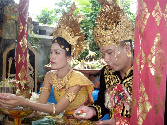 Bali wedding ceremony